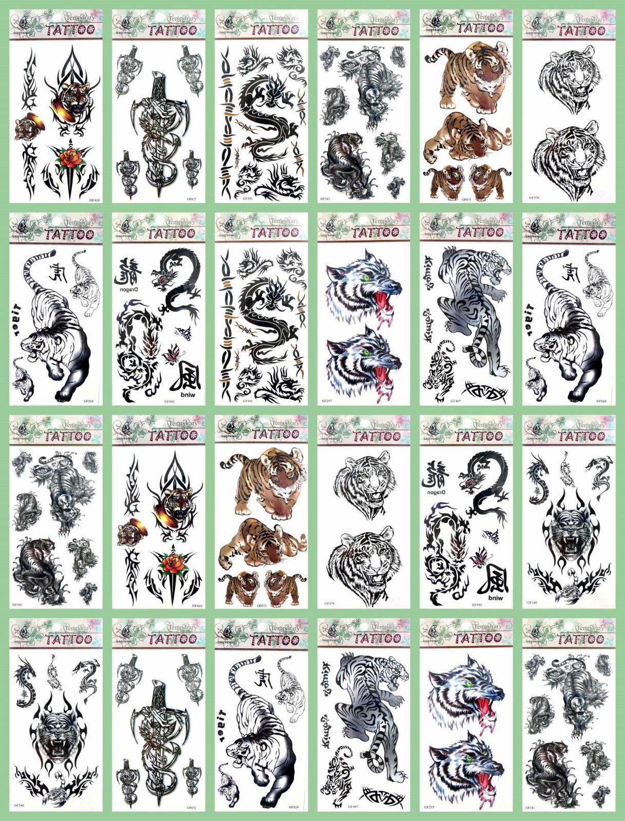 fb15f8ad0 Details about US Seller-50 sheets Halloween men guys boys temporary tattoo  wholesale tatoo
