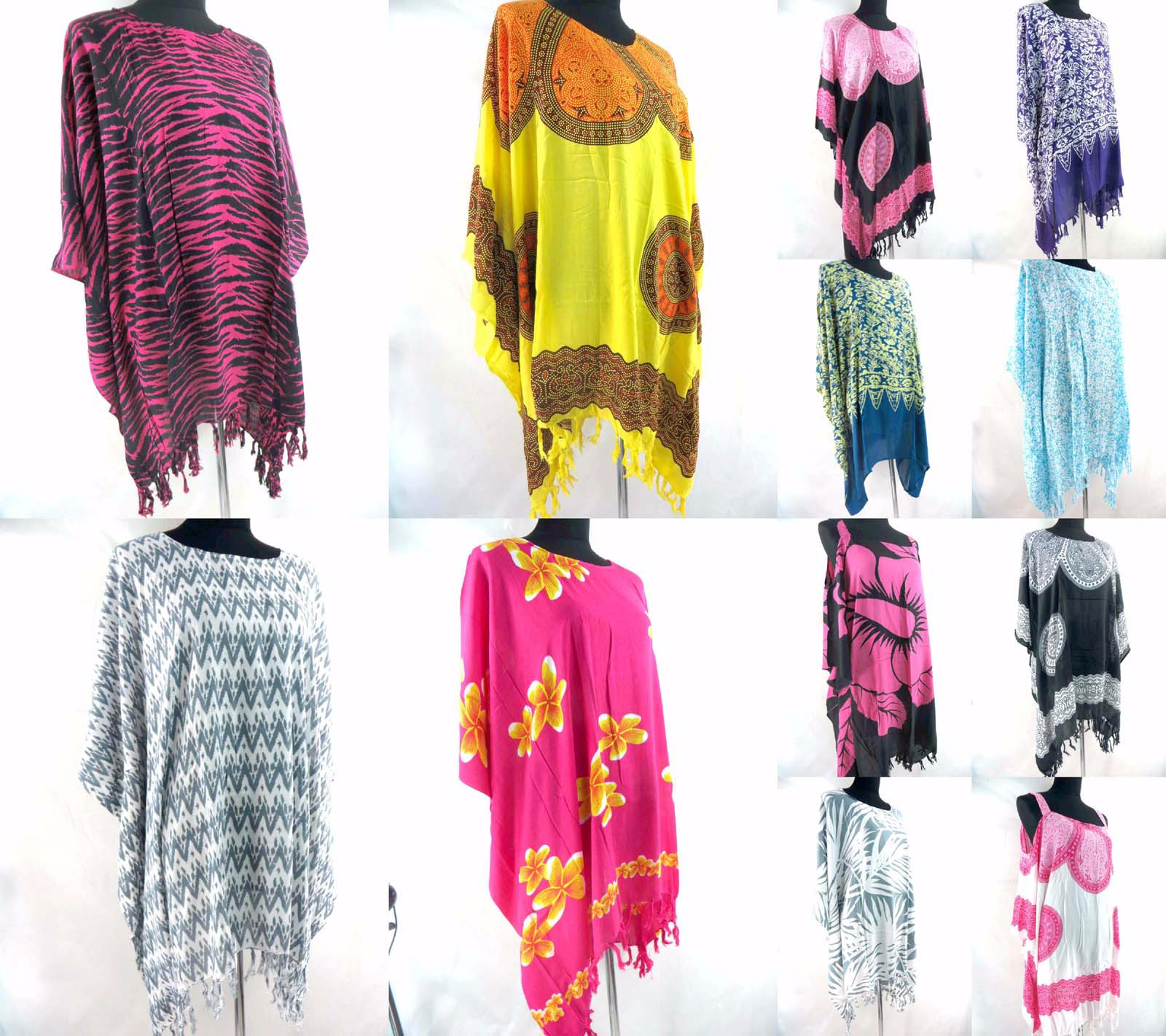 fa98aae445e Details about US SELLER- 10pcs wholesale plus size kaftan top dress cruise  wear for ladies