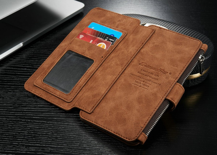 the latest b9072 3298d Details about CASEME Leather Case Cover Zipper Wallet Multifunction For  Samsung Galaxy S8+ S9+