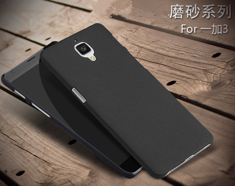 quality design 8f613 79dfe Details about Hard Shell Slim Quicksand Sandstone Back Cover Case For  Oneplus three 3/3T 1+