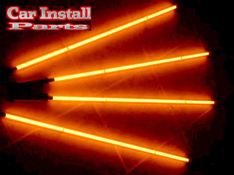 Orange Neons Underbody Glow In Street Neon Undercar Lights
