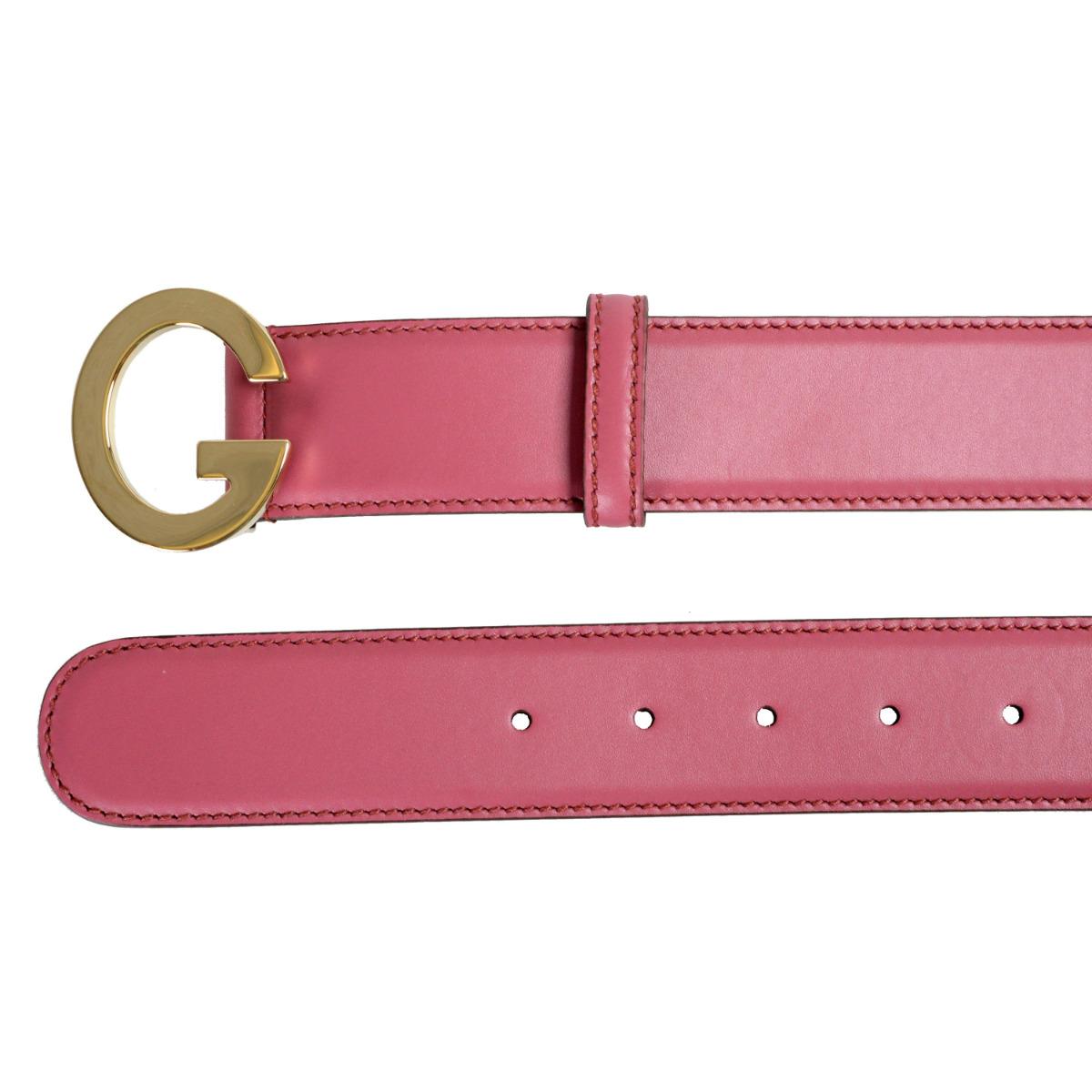 6b485615e6e6 Boucle de rose violacé clair unisexe Gucci décoré cuir ceinture Sz 32 36