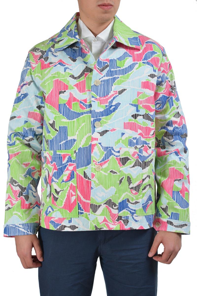 41262530fba0 Kenzo Multi-Color Button Down Men s Basic Jacket Sz M L