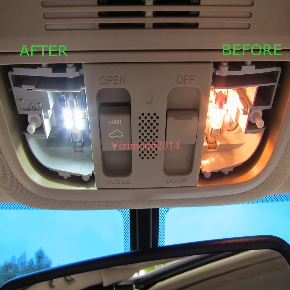 Car Interior Lights Flickering 17 Pcs White Car Led