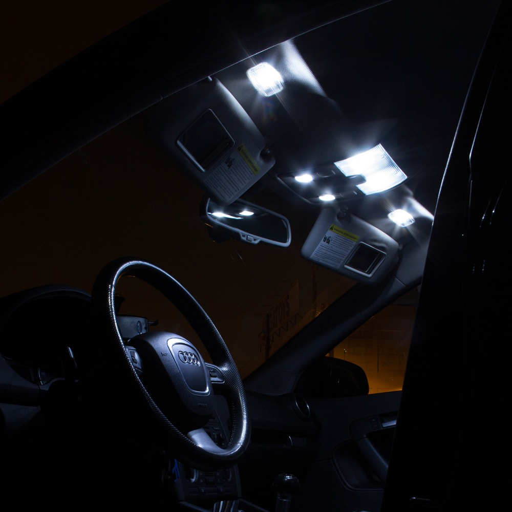 5x canbus white car led interior lights kit for 2007 up jeep wrangler jk 2 door ebay. Black Bedroom Furniture Sets. Home Design Ideas