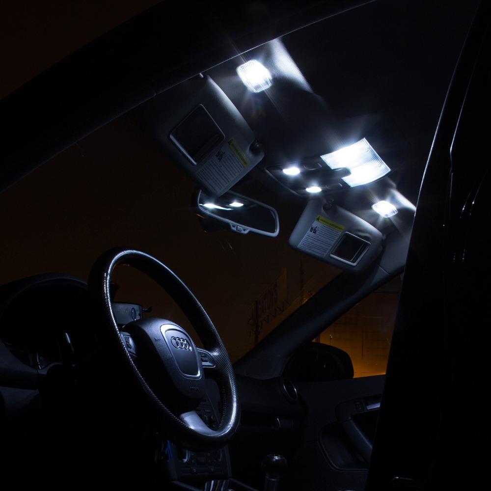 5x canbus white car led interior lights kit for 2007 up jeep wrangler jk 2 door ebay. Black Bedroom Furniture Sets. Home Design Ideas