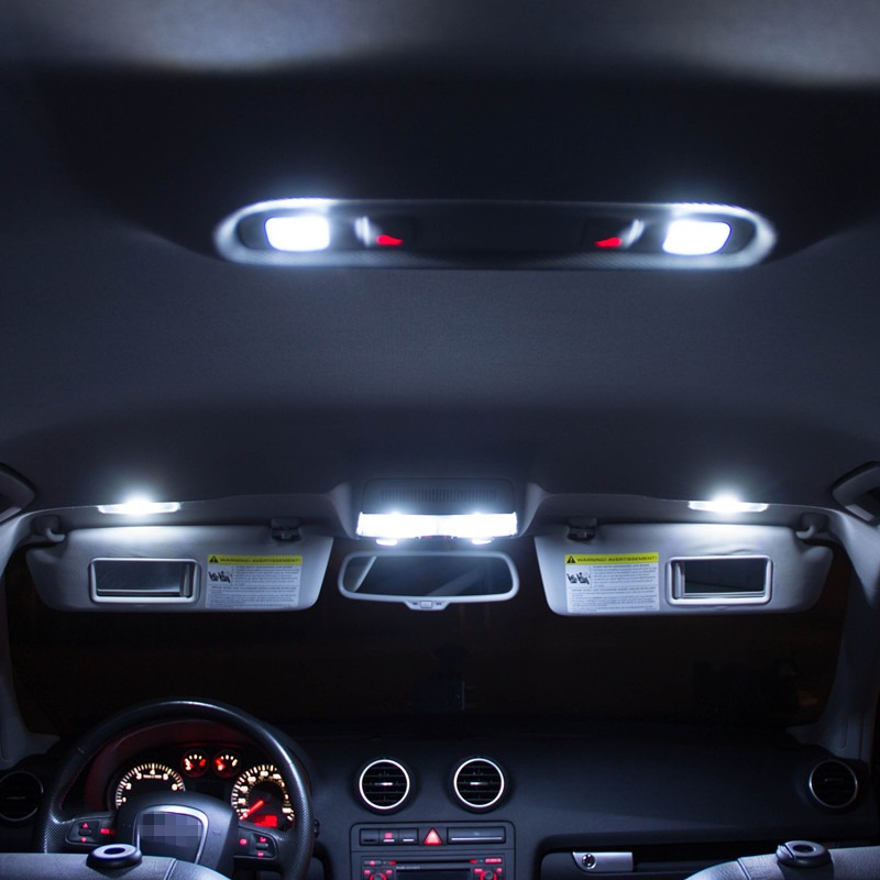 8x white bulbs led interior light lamp kit for car 2008 - Illegal to have interior car lights on ...