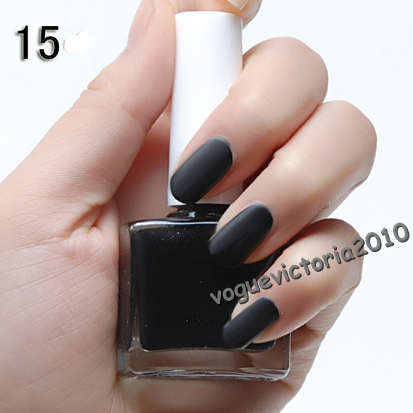 3 flaschen set nail art nagellack mit matt effekt schwarz wei rot ebay. Black Bedroom Furniture Sets. Home Design Ideas