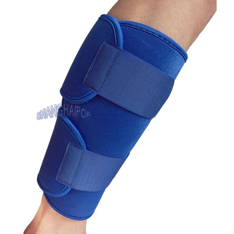 Neoprene Calf Shin Support Guard Brace Adjustable Velcro ...