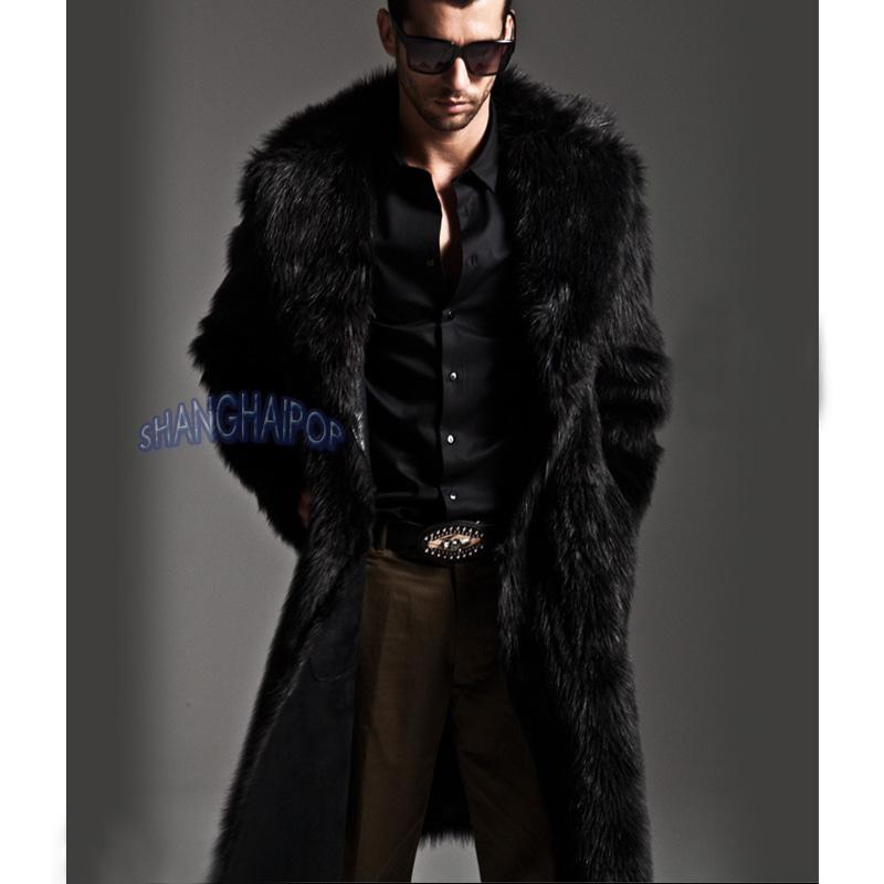 dfa2d39c76b1 Image is loading Mens-Faux-Fur-Parka-Coat-Winter-Warm-Luxury-
