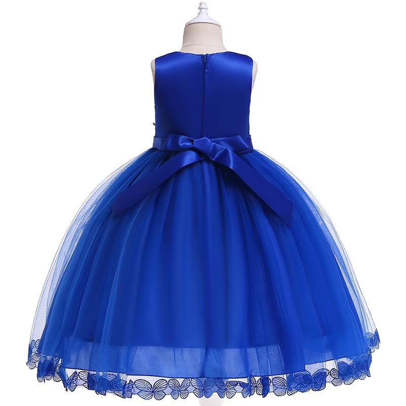Girl/'s Mesh Cake Flower Princess Dresses Party Evening Gown Kids Dress Xmas Gift