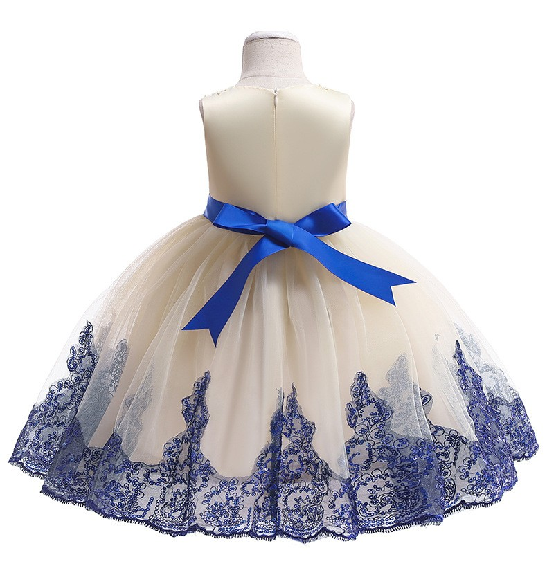 Girl/'s Bowknot Flower Princess Dresses Party Prom Gown Kid Lace Dress Xmas Gift