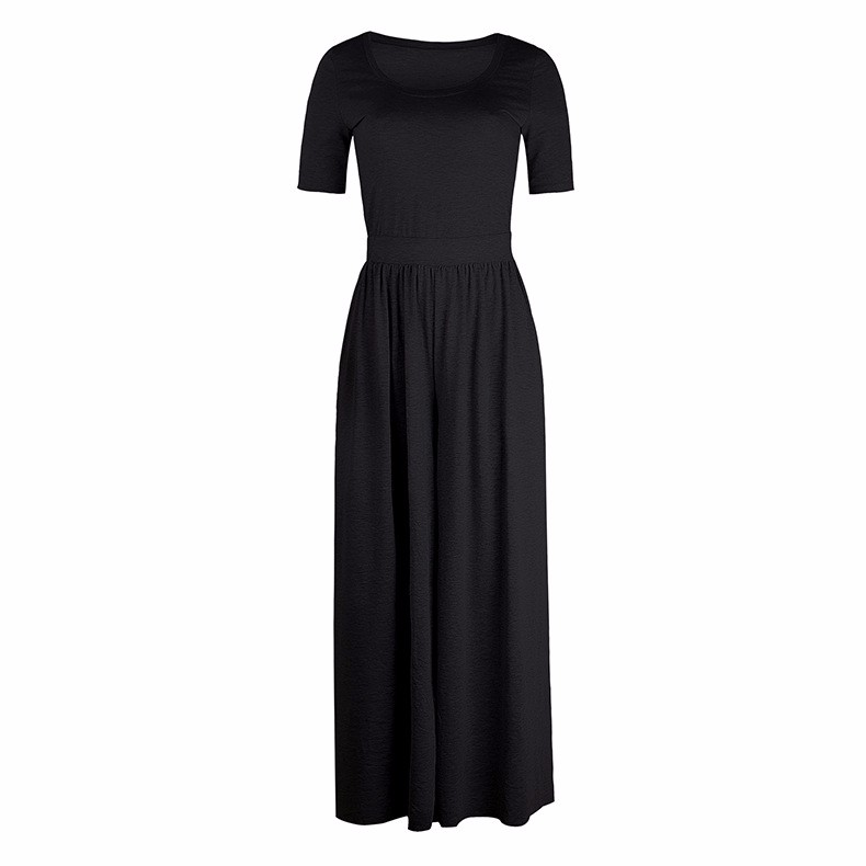 Women-039-s-Holiday-Maxi-Short-Sleeve-Jumpsuits-Ladies-Summer-Fashion-Rompers-Dress thumbnail 14