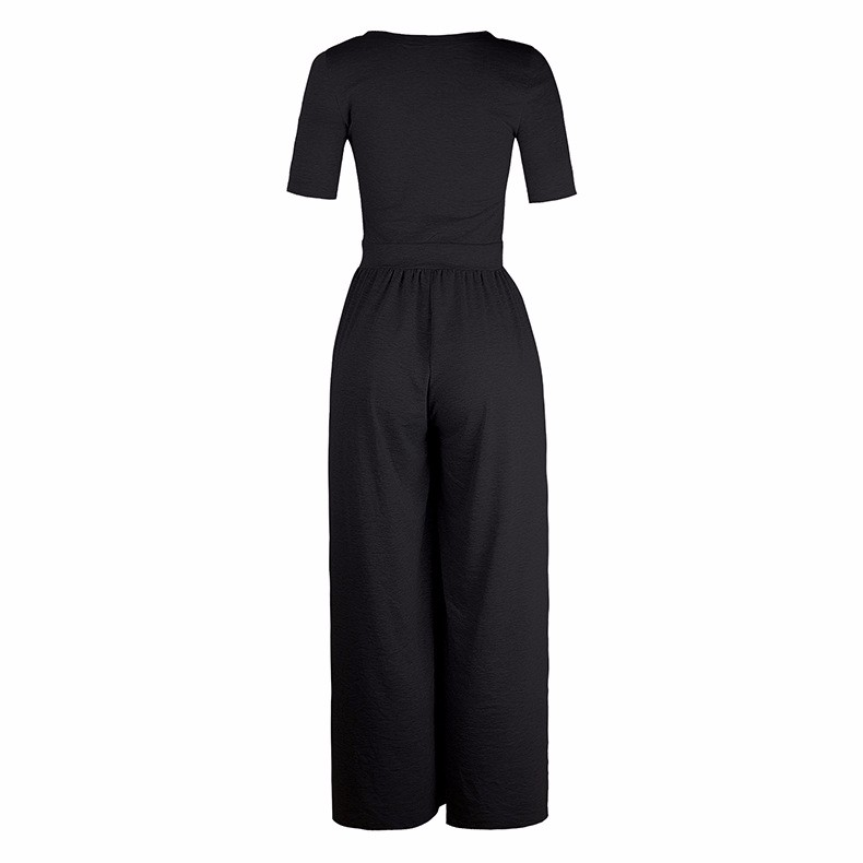 Women-039-s-Holiday-Maxi-Short-Sleeve-Jumpsuits-Ladies-Summer-Fashion-Rompers-Dress thumbnail 15