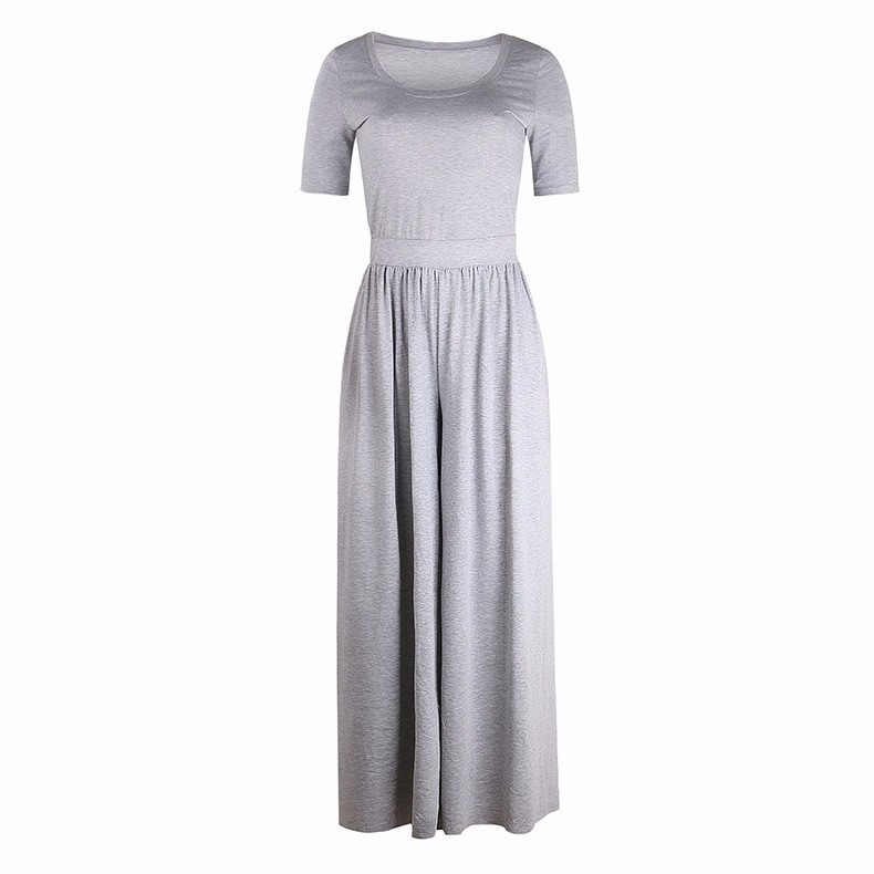 Women-039-s-Holiday-Maxi-Short-Sleeve-Jumpsuits-Ladies-Summer-Fashion-Rompers-Dress thumbnail 17