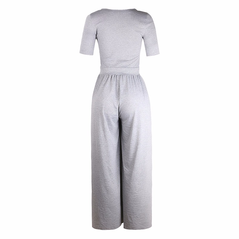 Women-039-s-Holiday-Maxi-Short-Sleeve-Jumpsuits-Ladies-Summer-Fashion-Rompers-Dress thumbnail 18