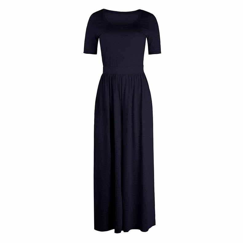 Women-039-s-Holiday-Maxi-Short-Sleeve-Jumpsuits-Ladies-Summer-Fashion-Rompers-Dress thumbnail 20