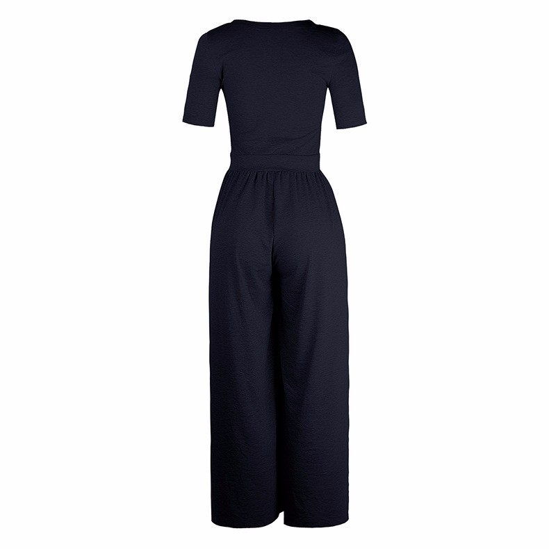 Women-039-s-Holiday-Maxi-Short-Sleeve-Jumpsuits-Ladies-Summer-Fashion-Rompers-Dress thumbnail 21