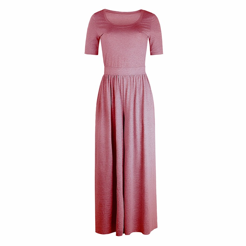 Women-039-s-Holiday-Maxi-Short-Sleeve-Jumpsuits-Ladies-Summer-Fashion-Rompers-Dress thumbnail 23