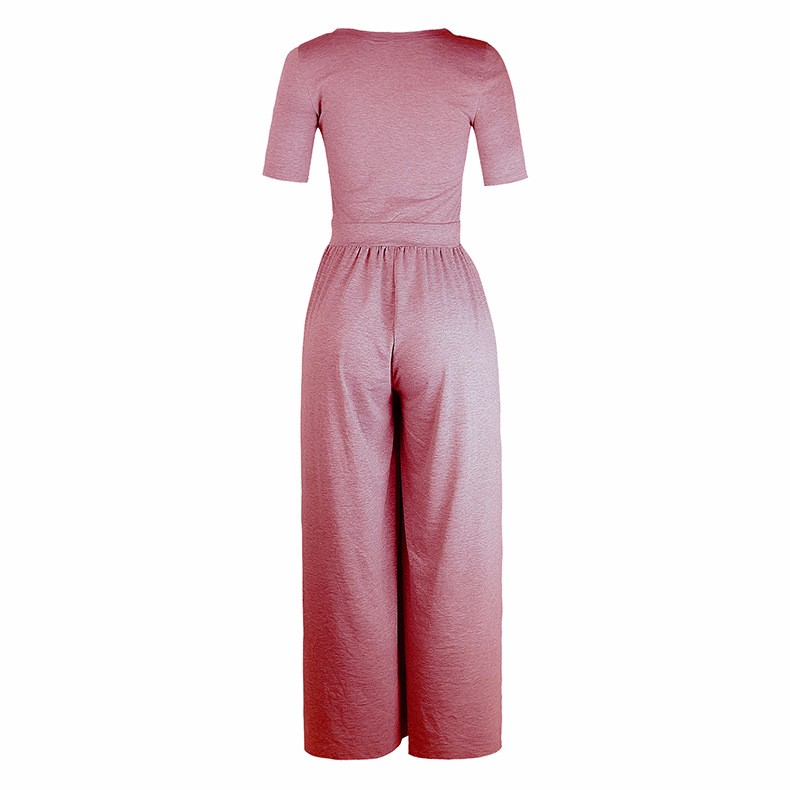 Women-039-s-Holiday-Maxi-Short-Sleeve-Jumpsuits-Ladies-Summer-Fashion-Rompers-Dress thumbnail 24