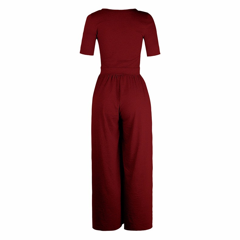 Women-039-s-Holiday-Maxi-Short-Sleeve-Jumpsuits-Ladies-Summer-Fashion-Rompers-Dress thumbnail 27