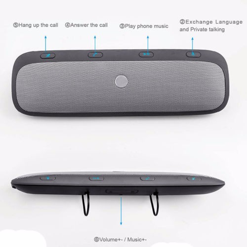 haut parleur kit chaud voiture haut parleur bluetooth universel mains libres ebay. Black Bedroom Furniture Sets. Home Design Ideas