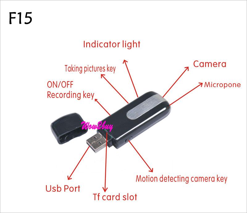 HD MINI DVR Hd video DISK USB Flash driver spy camera
