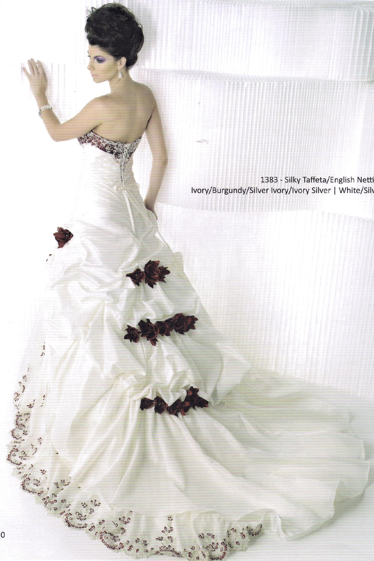Bridal Wedding Dress Gown Private Label BY G # 1383 Ivory/Silver ...