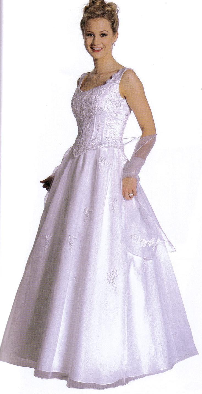 Formal Occasion Wedding Ball Gown Dress Organza/Lace Ivory W Shawl ...
