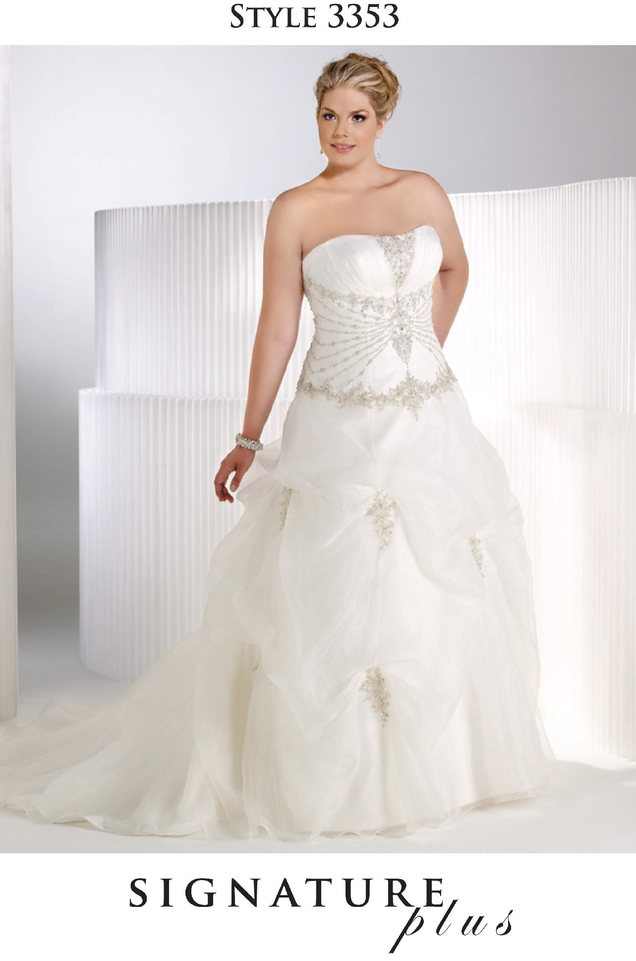 Bridal Wedding Dress Ivory/Silver #3353 SIGNATURE PLUS Privat Label ...