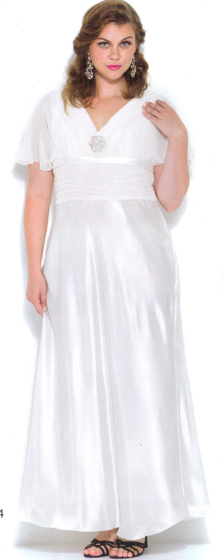 Ivory Informal Wedding Clothing Dress Evening Occasion Homecoming Plus