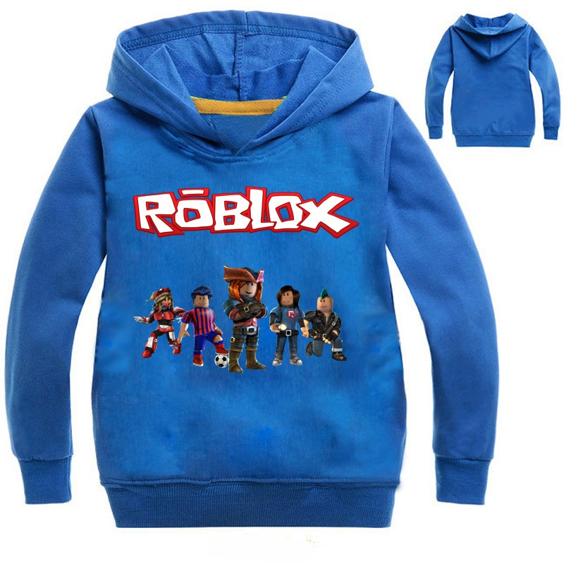 3973b845cb24f5 Boys Girls ROBLOX Kids Spring Fall Sweatshirts Hoodies Pullover ...