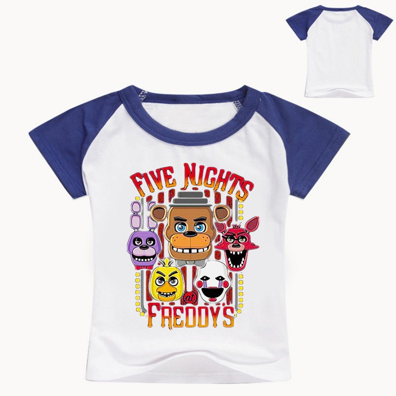 c03e13c7191ea Details about Boys Girls Five night at Freddy Kids Short Sleeve T-shirt  Summer Casual Costumes