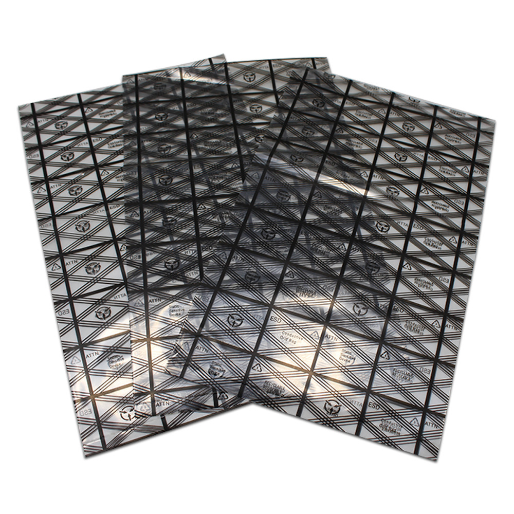 100 Open Top ESD Anti-Static Bags for Shielding Electronics 150 x 100mm Black