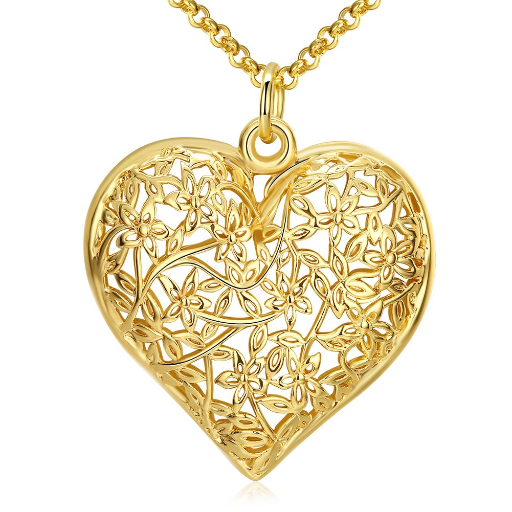 """Women/'s Pendant Necklace Mom Gift 18k Yellow Gold Filled 18/"""" Fashion Link New"""