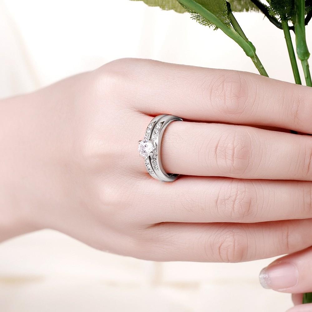 Women\'s Wedding Rings 18K White Gold Filled CZ Fashion Jewelry | eBay