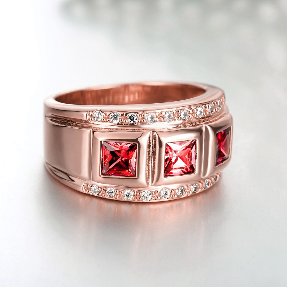 Women\'s Rings 18K Gold Filled Wedding Party Shine Zircon Jewelry ...