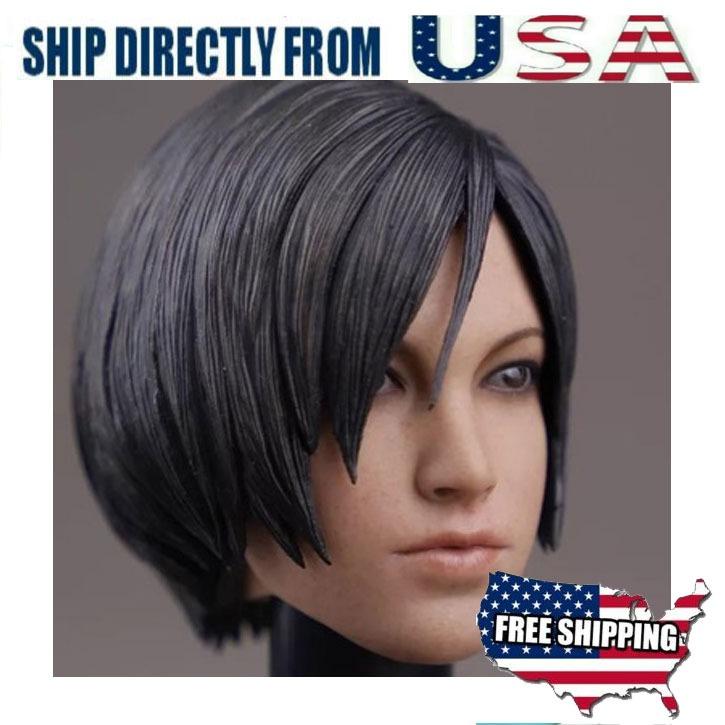 1//6 Ada Wong Head Sculpt For Resident Evil Hot Toys Phicen Kumik Figure ❶USA❶