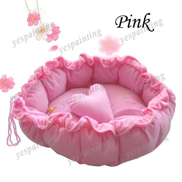 Pink Pet Puppy Dog Cat Soft Pet Bed Sleeping Bag Warm Cushion+ Pillow
