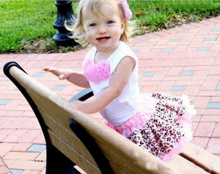 2pcs Baby Girl Kids Tutu Dress Top Skirt Brown Pink Black Dress Leopard Clothes