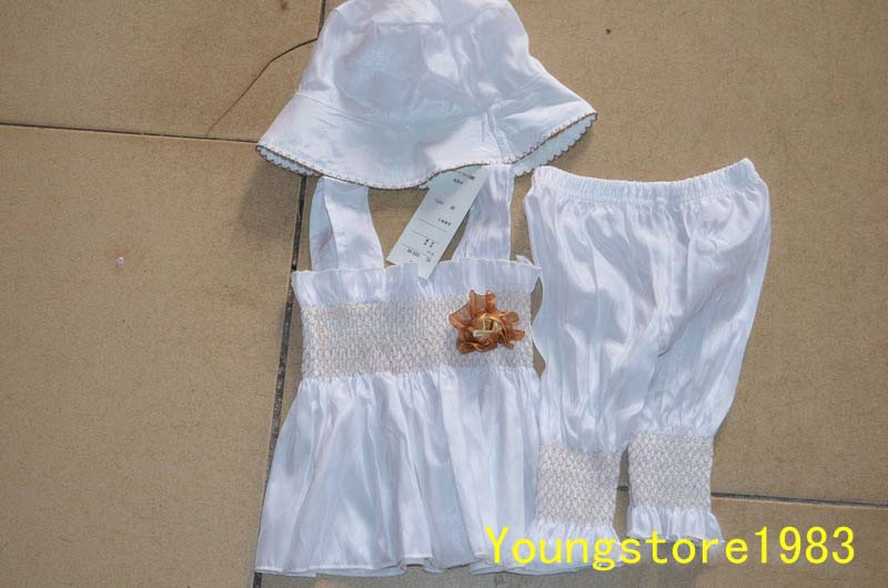 3pcs New Baby Girl Kid Ruffle Top Pants Hat Set Outfit Clothes Costume 0 24M