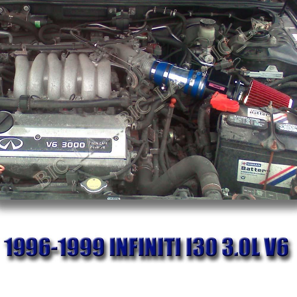 K/&N+NEW AIR INTAKE KIT FOR 00 01//2000 2001 INFINITI I30 I30T I 30 T 3.0L V6 RED