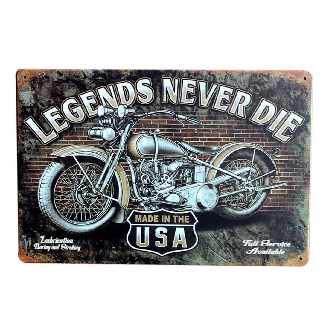 vintage bar pub shop motorcycle metal plaque decorative sign sheet iron poster ebay. Black Bedroom Furniture Sets. Home Design Ideas