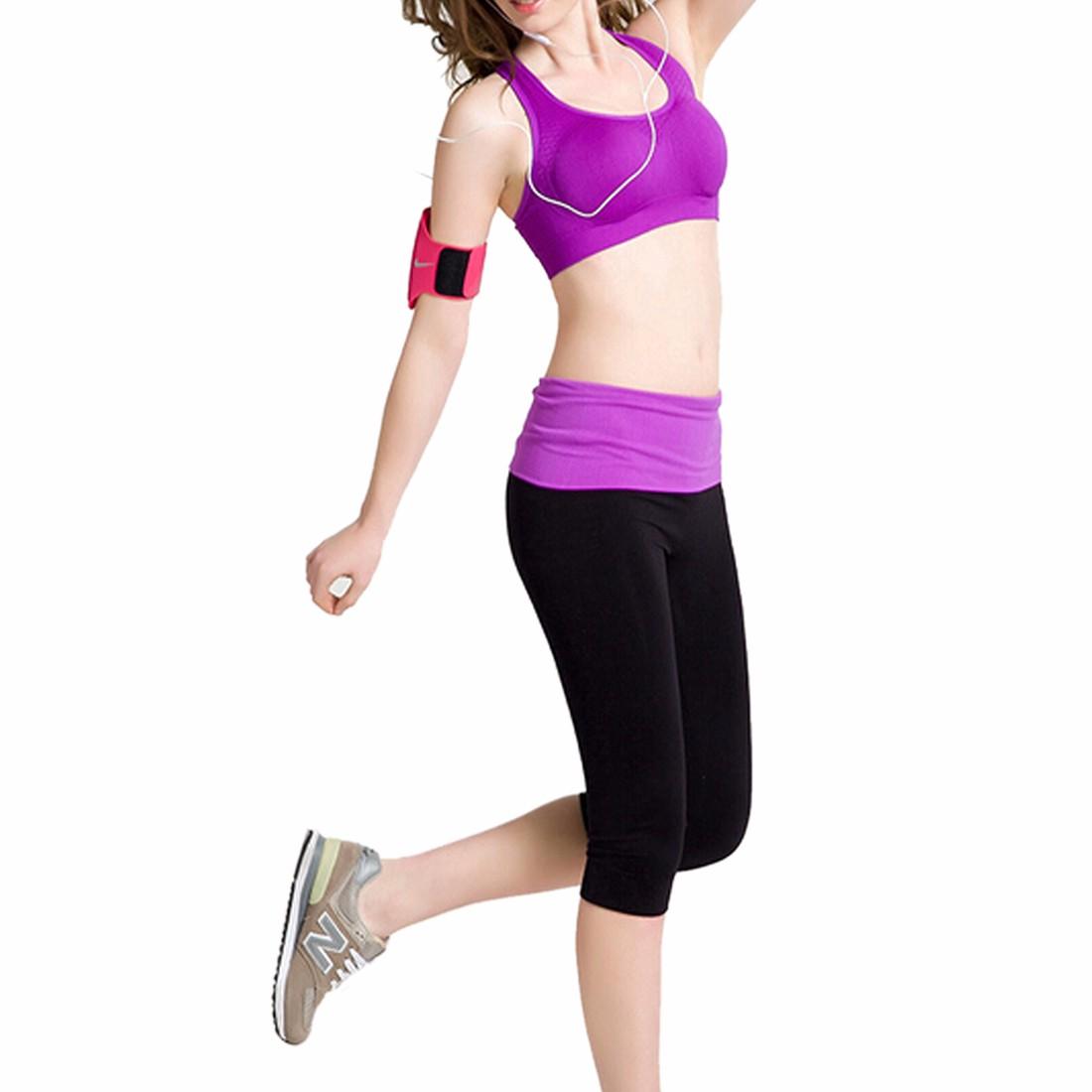 Women Sport Bra Vest Tops Tight Capri Pants Yoga Fitness