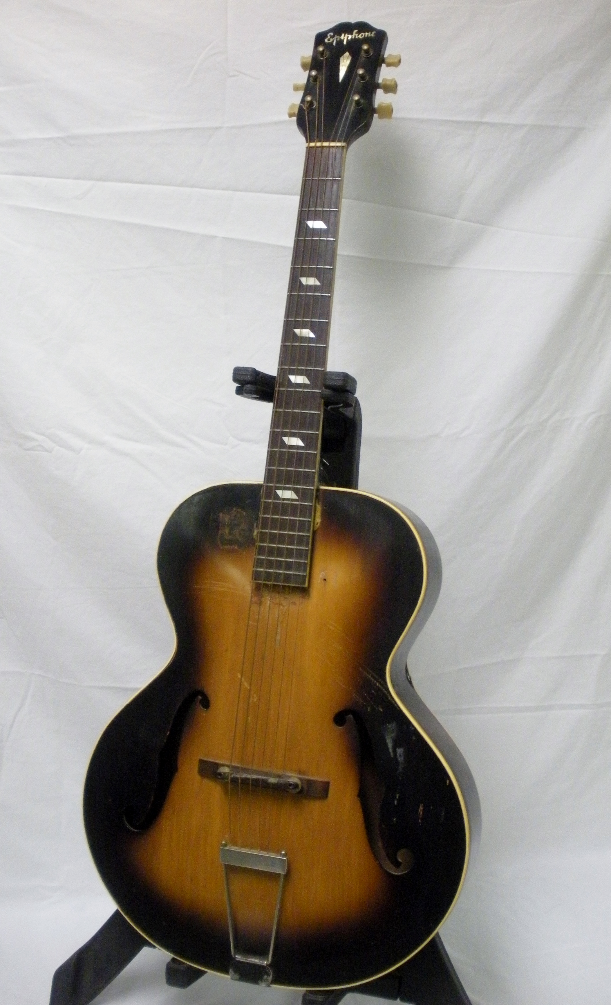 vintage 1937 epiphone blackstone arch top maple body neck acoustic guitar. Black Bedroom Furniture Sets. Home Design Ideas